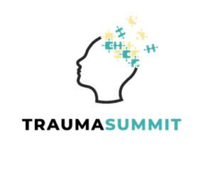 traumasummit logo, pään sisltä tulee palapelin paloja